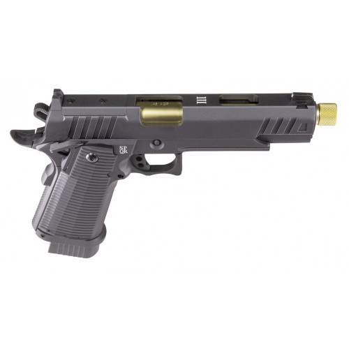 PISTOLET CO2 BLOW BACK LUDUS III GOLD SECUTOR + COMPENSATEUR GOLD