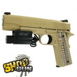 Pack Colt 1911 M45 USMC Fullmetal Blowback CO² Caméra